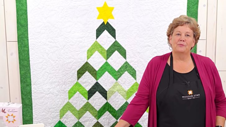 Chevron Christmas Tree Quilting Project
