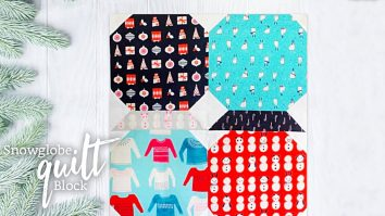 Snowglobe Winter Quilt Block