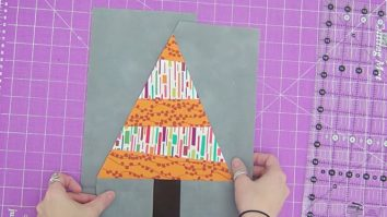 Sewing Tutorial - Christmas Tree Quilt