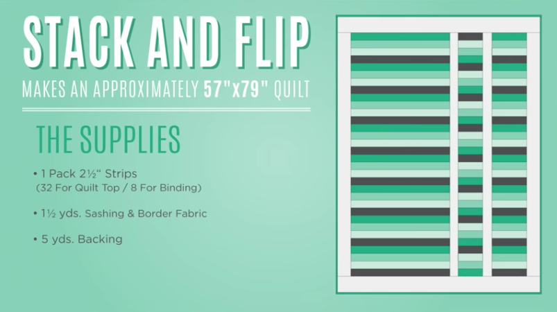 "Simple ""Stack & Flip"" Quilt Is A Colorful Masterpiece Anyone"