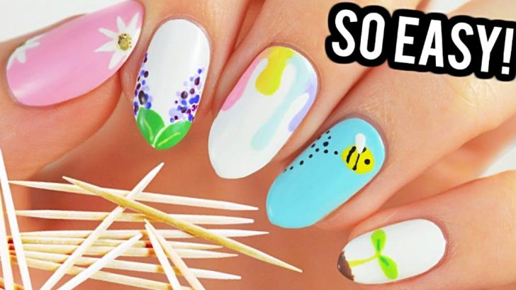 Anyone Can Do These Easy Nail Designs – All You Need Is A Toothpick ...