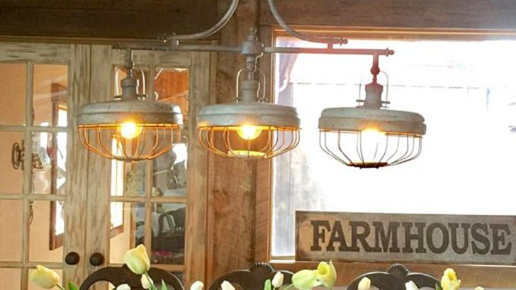 An Old En Feeder Upcycles Into A Perfect Light Fixture