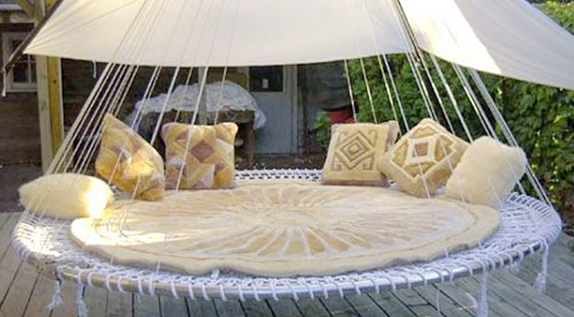 A Few Simple Steps Transforms Old Trampolines Into Stylish