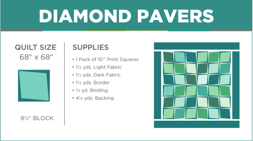 "Even A Toddler Could Sew Up This ""Diamond Pavers"" Quilt"
