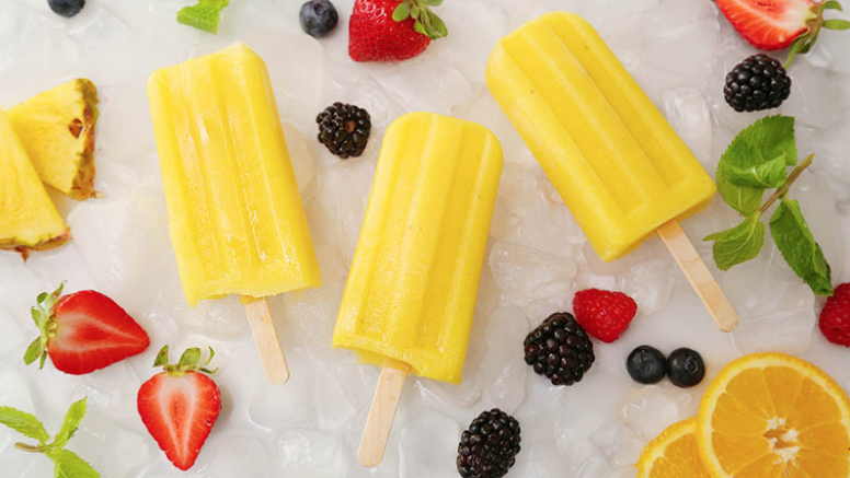 How to Make Pineapple Smoothie Popsicles - Summertime Recipes for Kids