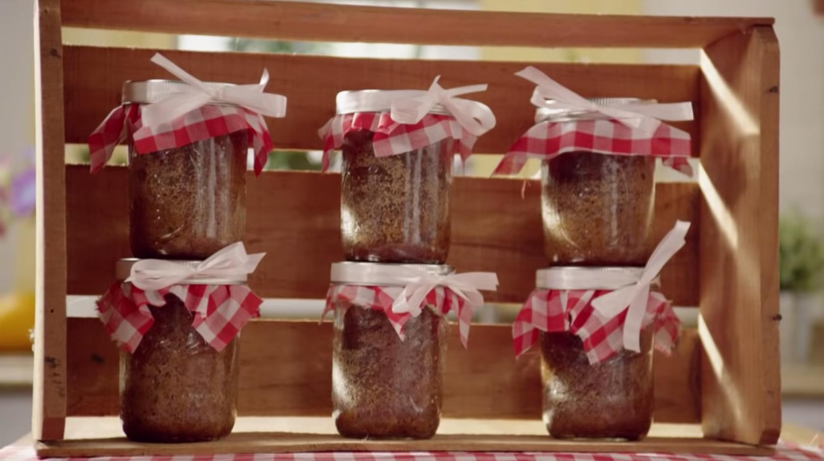 Banana Bread Recipe Is Baked In A Mason Jar Diy Ways