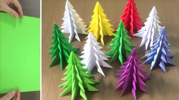 How to Make Paper Christmas Trees 3D Xmas crafts
