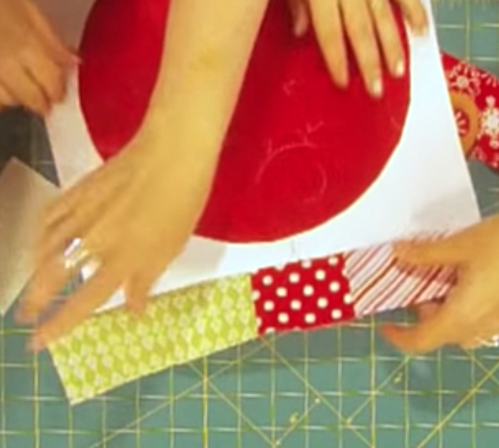 Learn to sew a Christmas Quilted Ball Ornament Pillow