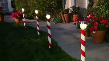 Learn to make Candy Cain Solar Light Poles for your Christmas lawn decor
