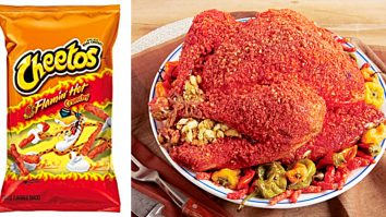 Learn to make a Flaming Hot Cheeto Turkey