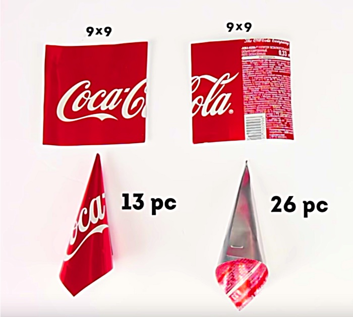 Learn this cheap easy Coke can Christmas DIY