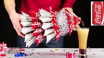 Learn to make this Cheap Christmas Coke Tree DIY Super Easy
