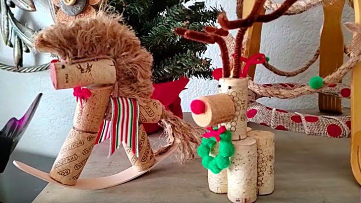 Wine Cork Crafts - DIY Christmas Ornaments - Wine Cork Reindeer