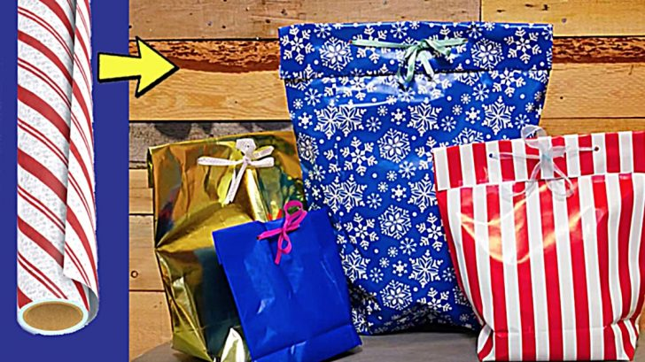 Learn to make a gift bag out of wrapping paper