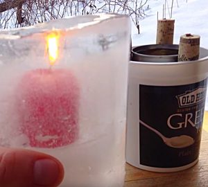 Learn to make this quick easy DIY Ice Sculpture Candle Lantern this Winter