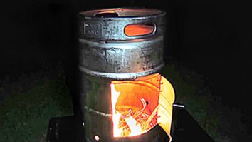 Learn to make a DIY fire pit from a beer keg