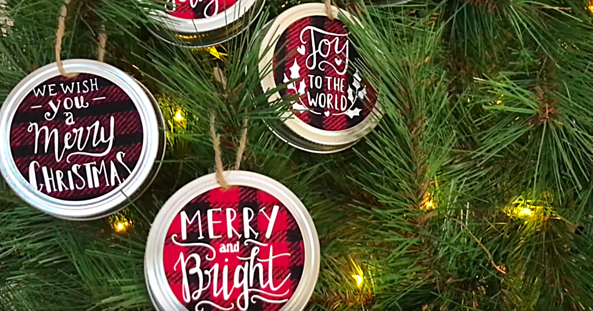 Diy Mason Jar Lid Christmas Ornaments Diy Ways