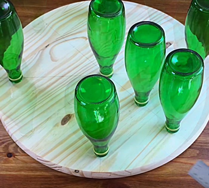 Try this recycled upcycled Perrier Bottle Luminary