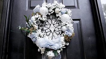 Make this cheap easy DIY Stained Glass Wreath