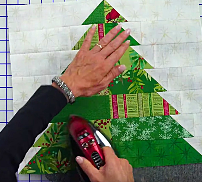 Learn this quick easy quilting DIY to use your Christmas Jellyrolls