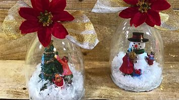 Learn to make this DIY Wine Glass Snow Scene For Christmas