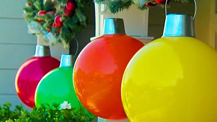 Learn to make DIY Giant Christmas Ball Ornaments