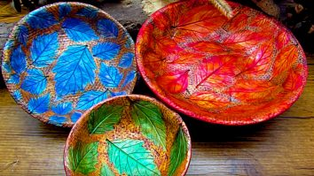 Learn to make DIY Polymer Clay Leaf Bowls