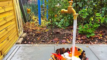 Learn how to make a DIY Magic Fountain with upstream water flow