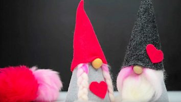 Learn to make a DIY Felt Gnome For Valentines Day