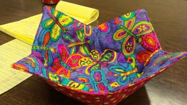 Make quilted bowl holders from upcycled fabric scraps scrap buster