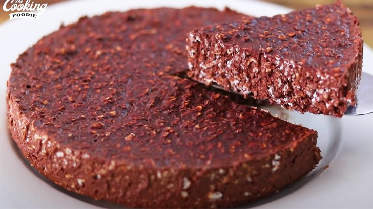 3-Ingredient Chocolate Oatmeal Cake Recipe   Dessert Recipe