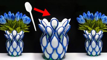 DIY Plastic Spoon Flower Vase | Upcycled Crafts