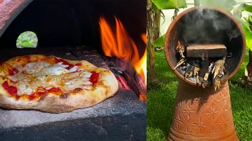 How To Build A Wood Oven With Flower Pots | Upcycle Crafts