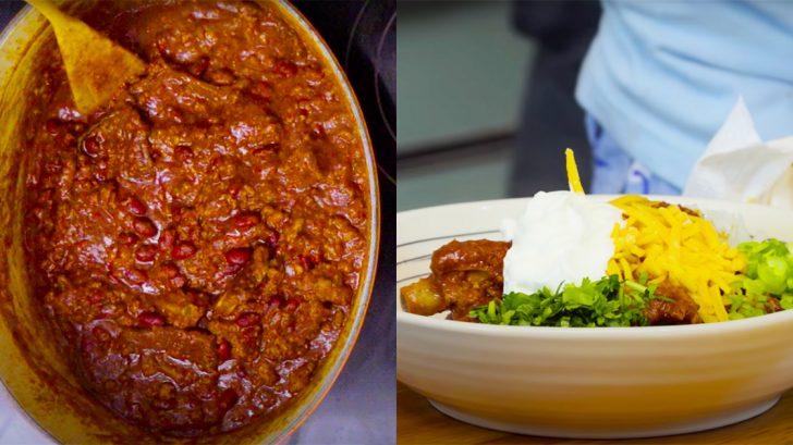 How To Make Beef and Pork Rib Chili   Homemade Recipes