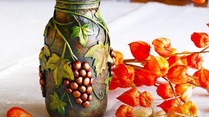 Mason Jar Craft Idea With Grape Vines | Mason Jar Crafts