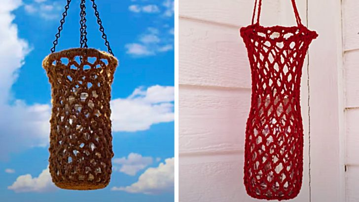 How To Make Crochet Lanterns With Mason Jars