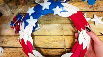 How To Make an American Flag Wreath