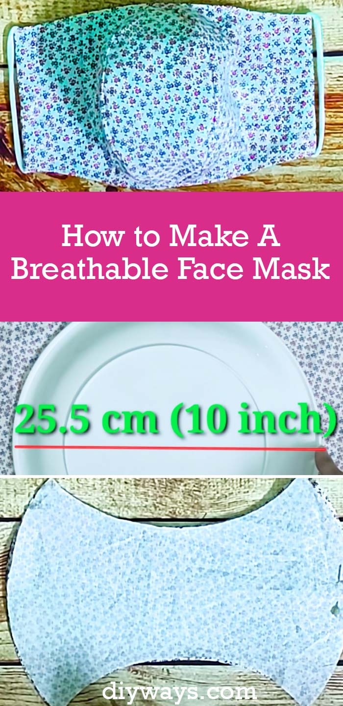 How to Make A Breathable Face Mask - Easy DIY Face Masks That You Can Breathe Through - Step by step sewing tutorial and free pattern for making DIY face masks that are lightweight