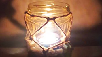 How To Make A Knotted Lantern From A Mason Jar