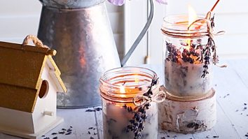 How To Make Candles With Fresh Lavender