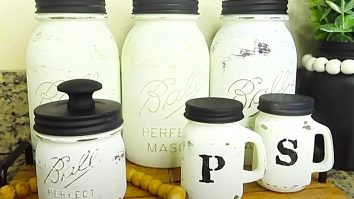 How To Make A Mason Jar Canister Set
