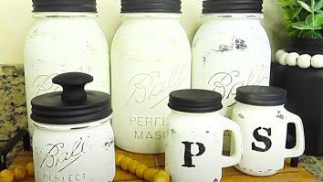 How To Make A Mason Jar Canister Set