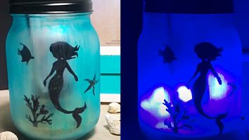 How To Make A Mermaid LIght Up Mason Jar