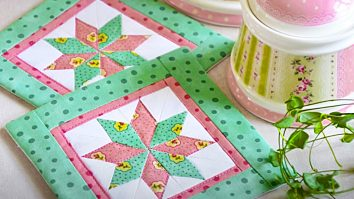 How To Make A Lemoyne Star Quilted Coaster