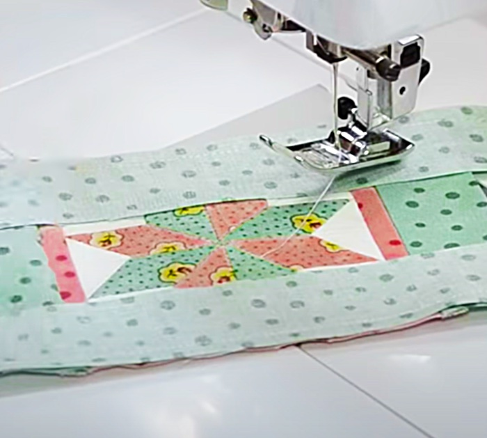 Sew The Outer Portions Of The Lemoyne Star Pattern For Coasters