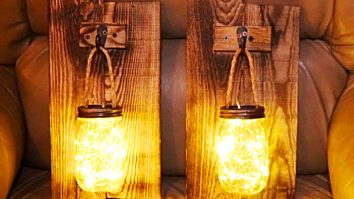 How To Make Rustic Mason Jar Lights From Old Pallet Boards