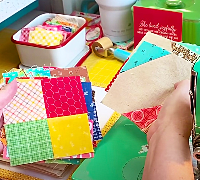 Use A Jelly Roll To Make a Scrappy Crossroads Quilt Block