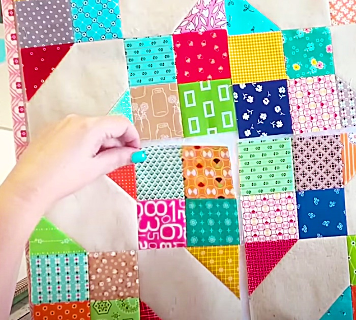 Sew Scrappy Crossroads Quilt Blocks Together To make a Quilt