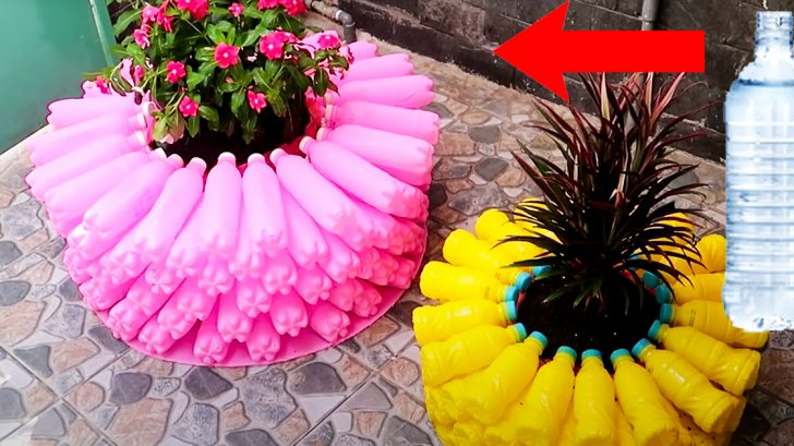 DIY Flower Pot Using Plastic Bottles | DIY Upcycling