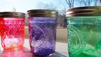 DIY Mason Jar Sea Glass Bottles   Mason Jar Crafts